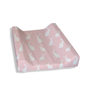 Bunny Silhouette Pink Change Mat Cover