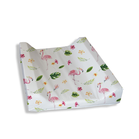 Tropical Flamingos Change Mat Cover