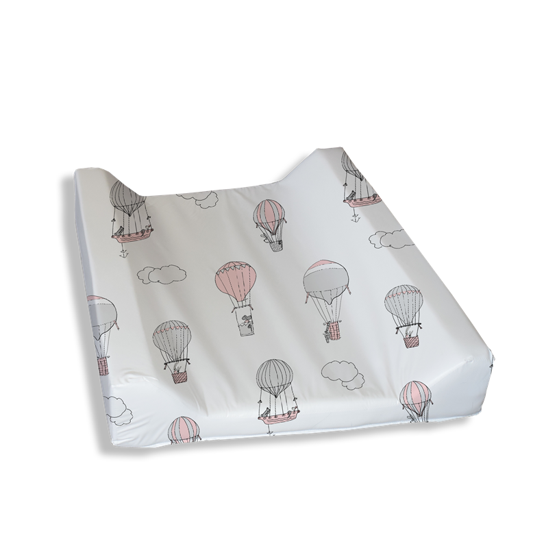 Up and Away Pink Grey Change Mat Cover
