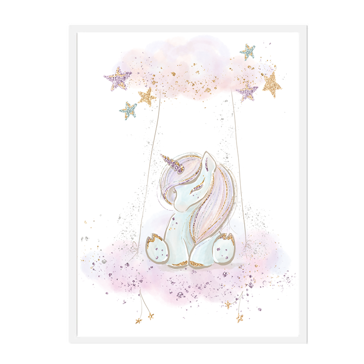 Cloudy Unicorn Print