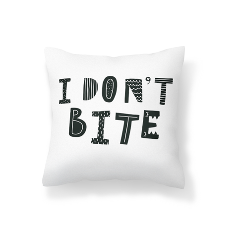 I Don't Bite Scatter Cushion