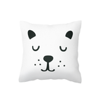 Black Bear Face Scatter Cushion