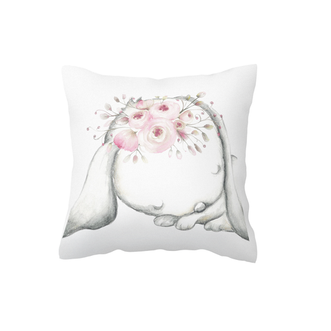 Sleeping Boho Bunny Scatter Cushion Cover