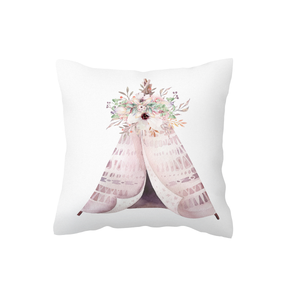 Pink Boho Teepee Scatter Cushion Cover
