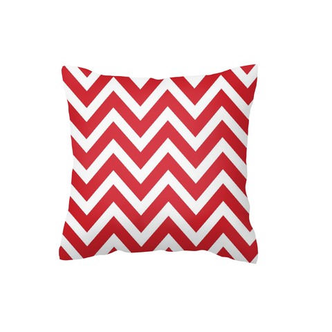 Red Chevron Scatter Cushion