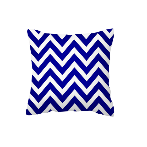 Navy Chevron Scatter Cushion
