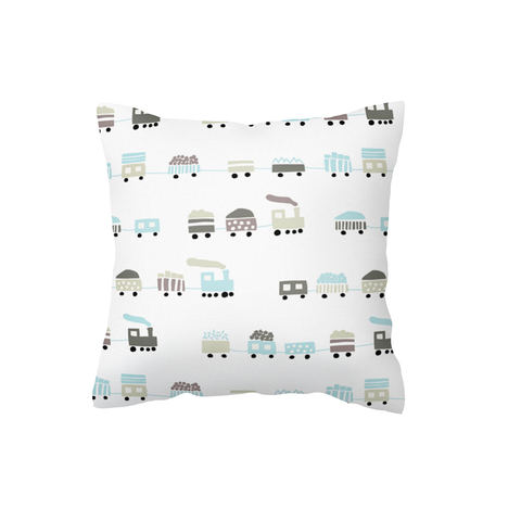 Mist Blue Choo Choo Scatter Cushion