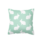 White on Mint Hop Scatter Cushion