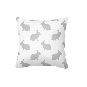 Grey on White Hop Scatter Cushion
