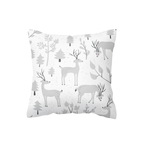 Grey Snowy Woodland Scatter Cushion