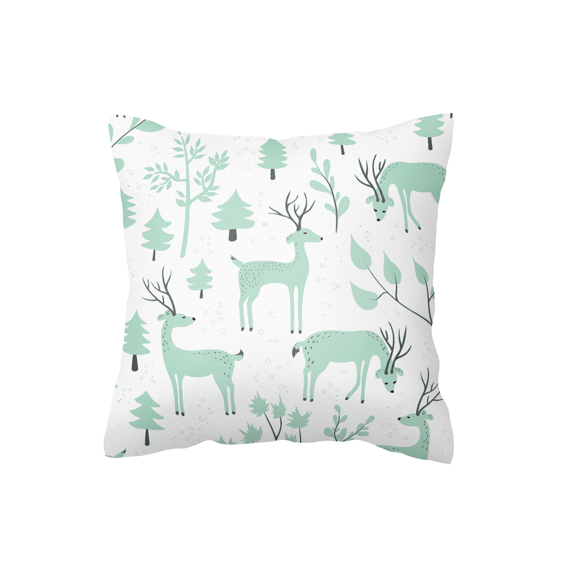Mint Snowy Woodland Scatter Cushion