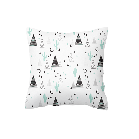 Teepee and Cactus Scatter Cushion Cover