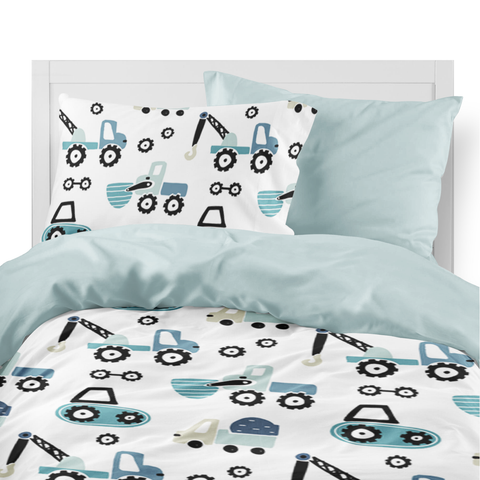 Construction duvet set for boys