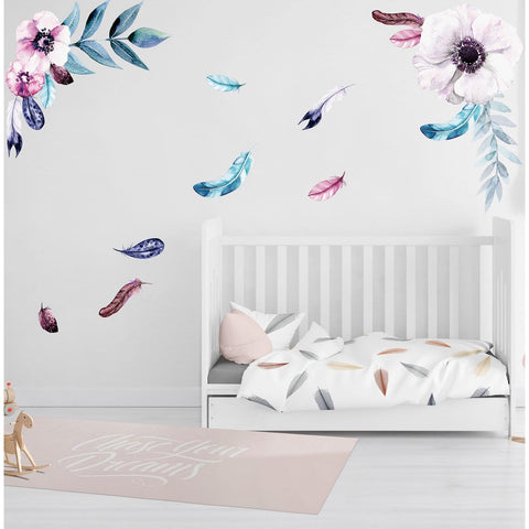 Wall Decal - Feathering Flowers