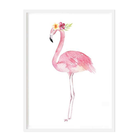 Tall Flamingo Print