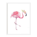 Bowing Flamingo Print