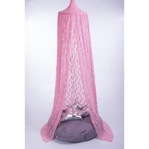 Pink Lace Hanging Tent