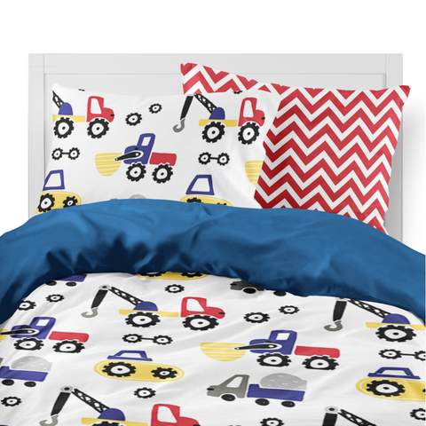 Diggers & Dozers Primary Kids Duvet Set