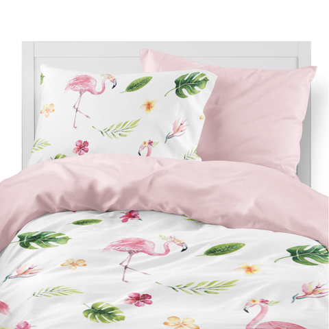 Tropical Flamingo Kids Duvet Set