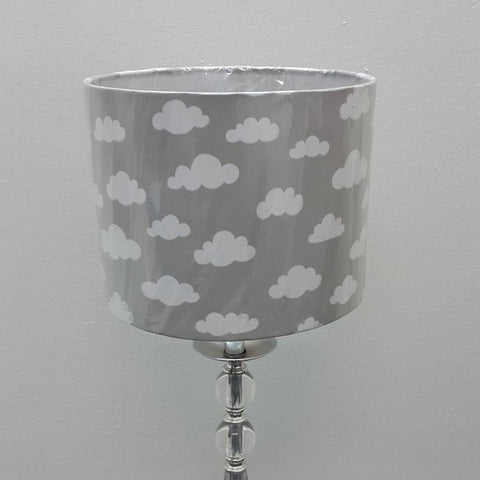 Grey Clouds Drum Lamp Shade