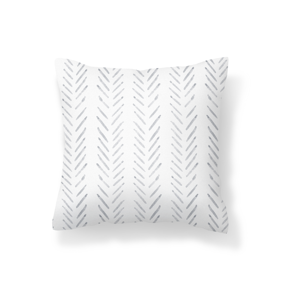 Light Grey Herringbone Scatter Cushion
