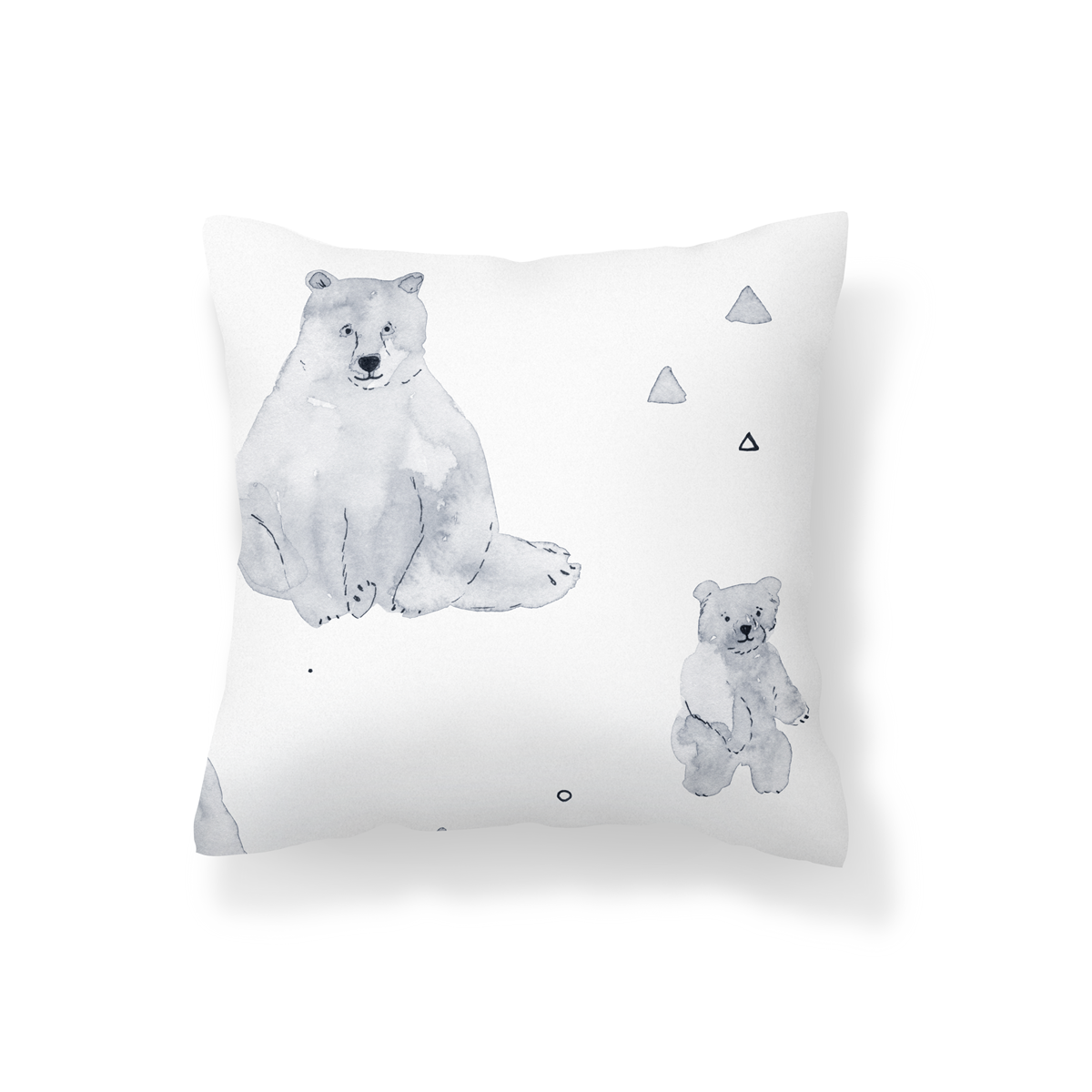 Watercolour Bears Scatter Cushion