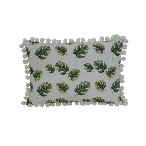 Monstera Leaf Bobble Toddler Cushion