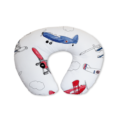 Red and Navy Air Show Feeding Cushion