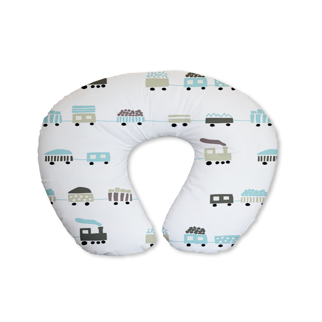 Choo Choo Blue Feeding Cushion
