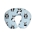 Blue Playful Pandas Feeding Cushion