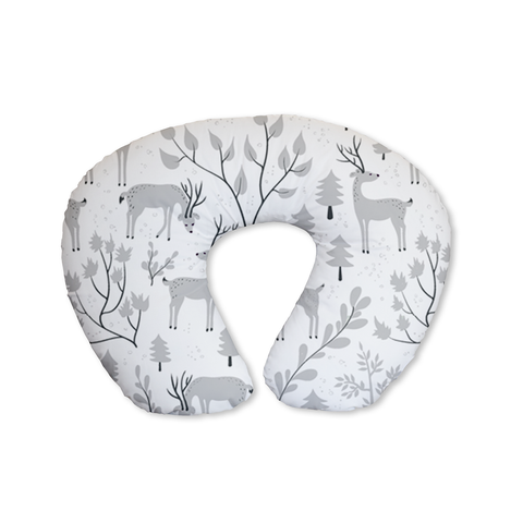Snowy Woodland Grey Feeding Cushion