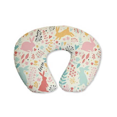 Pastel Spring Rabbits Feeding Cushion