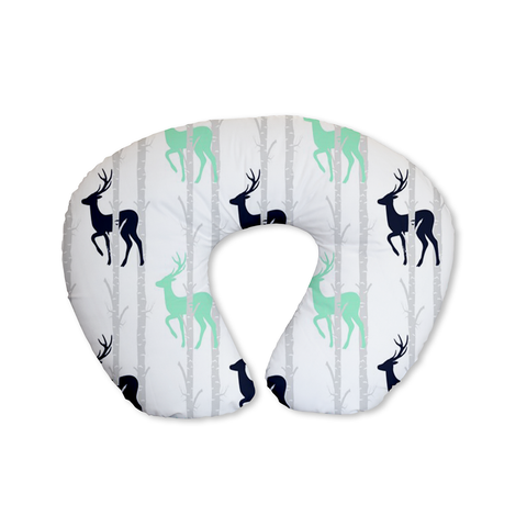 Birch Stags Navy Feeding Cushion