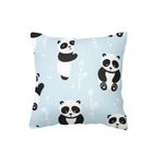 Blue Playful Panda Scatter Cushion Cover
