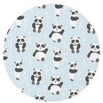 Blue Playful Panda Play Mat
