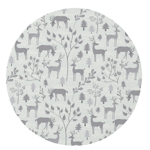 Grey Snowy Woodland Play Mat