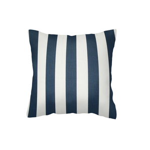Navy Canopy Stripe Scatter Cushion Cover