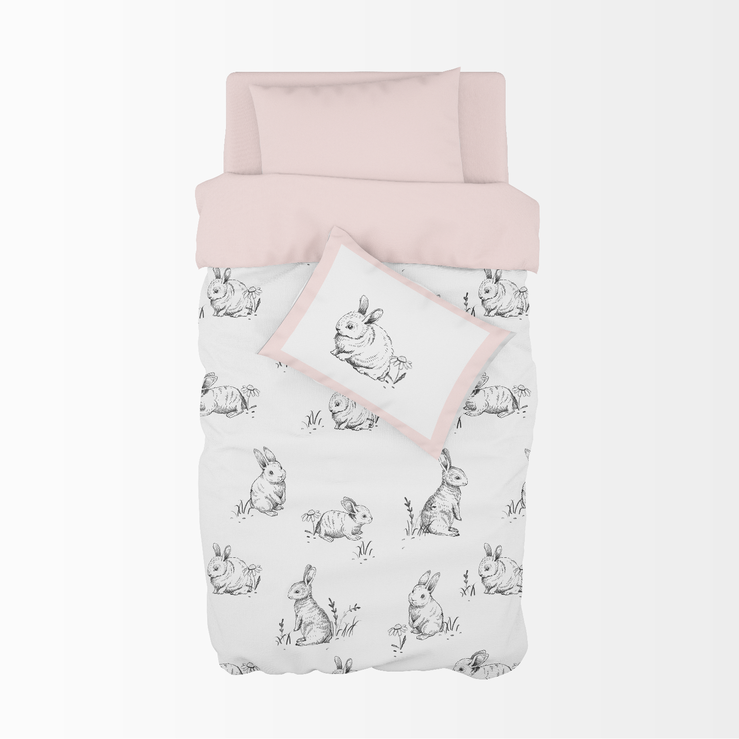 Sketch Bunnies Cot Duvet Set