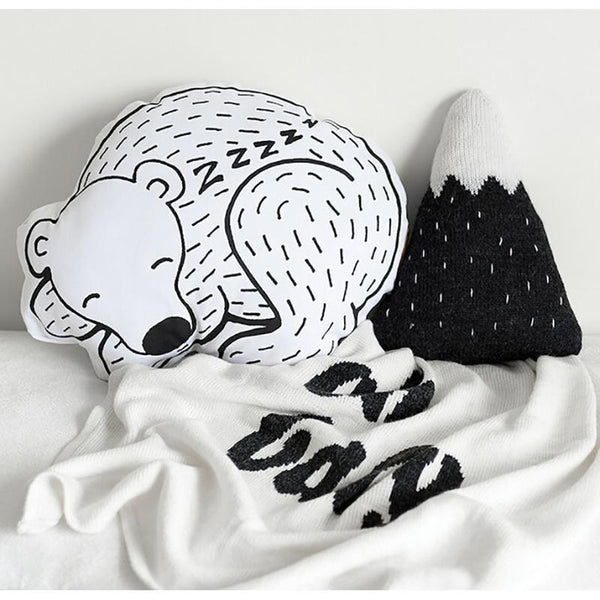 Black Sleeping Bear Cushion