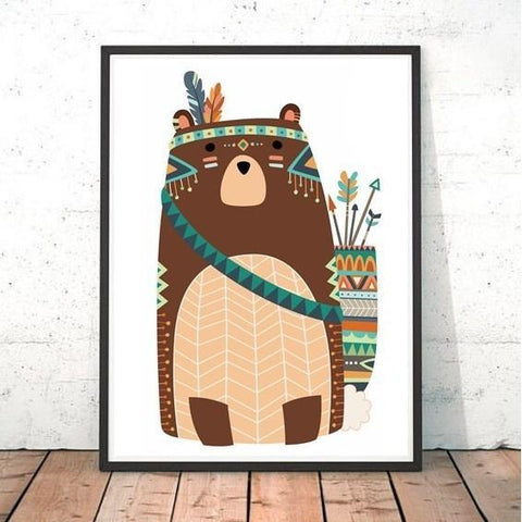 Tribal Bear Print
