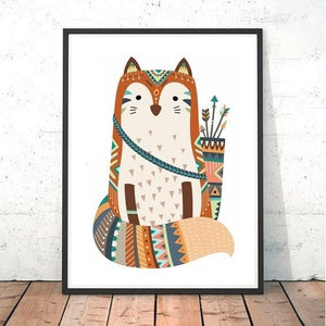 Tribal Fox Print