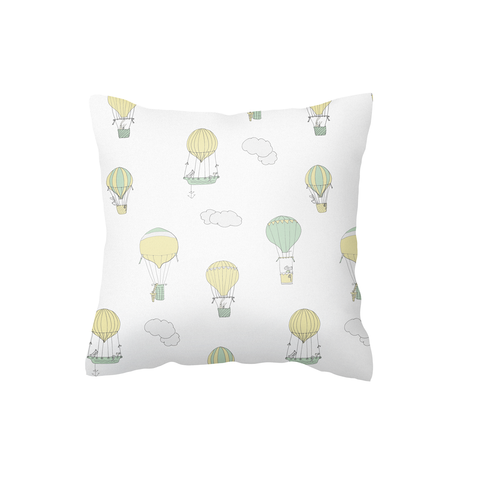 Mint and Yellow Up and Away Scatter Cushion