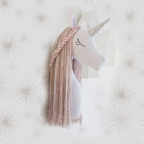 Unicorn Head Wall Mount
