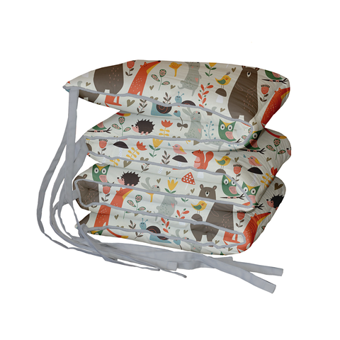 Whimsy Woodland Padded Cot Bumper