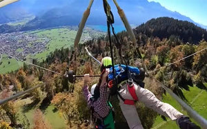 GLIDER SWISS CHRIS NEAR DEATH NO HARNESS