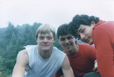 Tom, Steve, and Kurt on a training hike on Mount Si in 1986