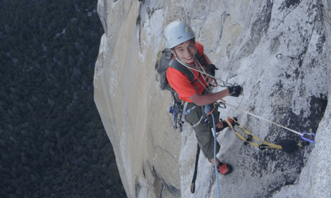 Connor on an earlier recon of the Nose, El Capitan, Yosemite Valley. Photo: Jim Herson.