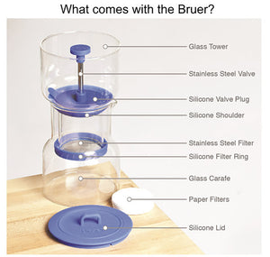 Bruer Cold Brew System - Blue Cold Brew Bruer - spectacled bear coffee