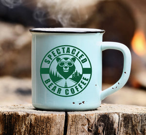 12oz Enamel Steel Mug Coffee Mug Spectacled Bear Coffee - spectacled bear coffee