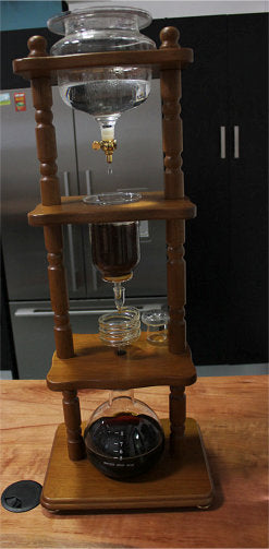 Yama 25 Cup (124oz) Cold Drip Coffee Maker, Brown Wood Frame Cold Brew Hario - spectacled bear coffee